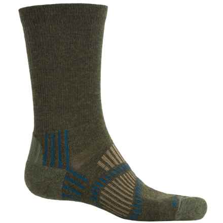 Fox River Light Socks - PrimaLoft®-Merino Wool, Crew (For Men and Women) in Olive - Closeouts