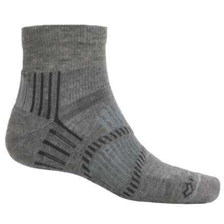 Fox River Light Socks - PrimaLoft®-Merino Wool, Quarter Crew (For Men and Women) in Bean Grey - Closeouts