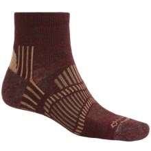 Fox River Light Socks - PrimaLoft®-Merino Wool, Quarter Crew (For Men and Women) in Brick/Taupe - Closeouts