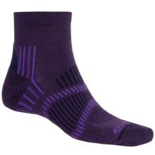 Fox River Light Socks - PrimaLoft®-Merino Wool, Quarter Crew (For Men and Women) in Grape/Purple/Navy - Closeouts