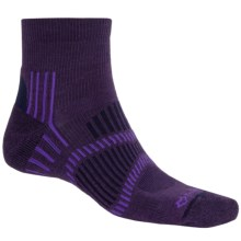 Fox River Light Socks - PrimaLoft®-Merino Wool, Quarter Crew (For Men and Women) in Grape/Purple/Navy - Closeouts