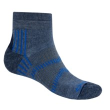 Fox River Light Socks - PrimaLoft®-Merino Wool, Quarter Crew (For Men and Women) in Indigo/Skydriver Blue - Closeouts