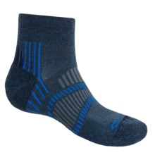 Fox River Light Socks - PrimaLoft®-Merino Wool, Quarter Crew (For Men and Women) in Navy Heather/Skydriver Blue - Closeouts