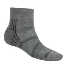 Fox River Light Socks - PrimaLoft®-Merino Wool, Quarter Crew (For Men and Women) in Vapor Grey/Charcoal - Closeouts