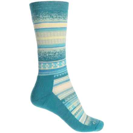 Fox River Mariposa Socks - Merino Wool Blend, Crew (For Women) in Lyons Blue - Closeouts
