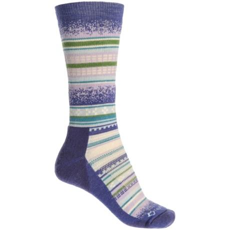 Fox River Mariposa Socks - Merino Wool Blend, Crew (For Women) in Purple