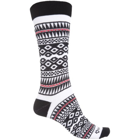 Fox River Maya Socks - Crew (For Women) in Black/White