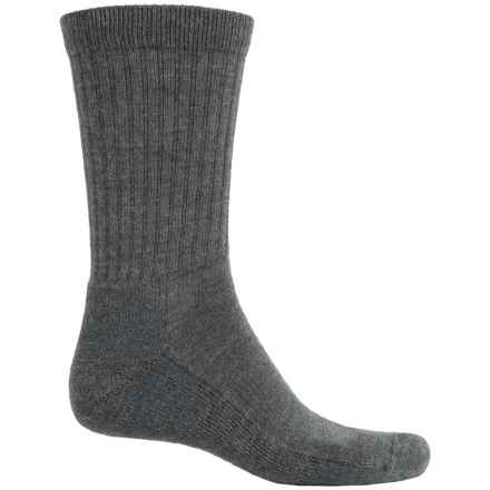 Fox River Merino-Wool-Blend Socks - Crew (For Men and Women) in Charcoal - Overstock