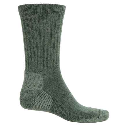 Fox River Merino-Wool-Blend Socks - Crew (For Men and Women) in Olive - Overstock