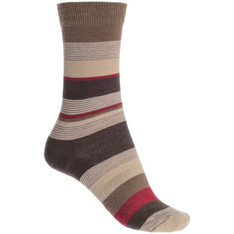 Fox River Modern Day Socks - Merino Wool Blend, Crew (For Women) in Chestnut