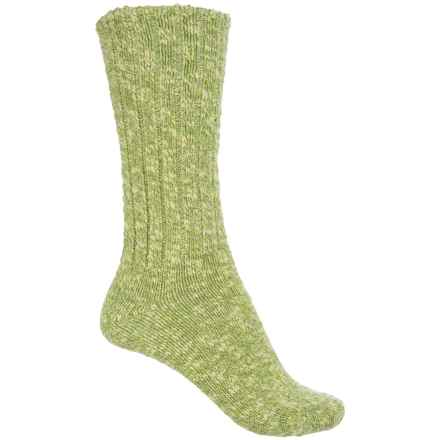 Fox River New American Lightweight Ragg Socks - Cotton Blend, Crew (For Men and Women) in Green - Closeouts