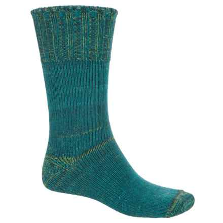 Fox River New American Ragg Socks - Merino Wool Blend, Crew (For Men and Women) in Dark Teal - 2nds