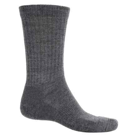 Fox River New Zealand Socks - Merino Wool Blend, Crew (For Men and Women) in Charcoal - Overstock