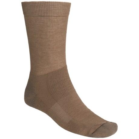 Fox River Outdoor Socks - Crew (For Men and Women) in Medium Bro