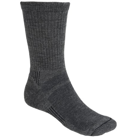 Fox River Outdoor Socks - Merino Wool, Lightweight, Crew (For Men and Women) in Charcoal