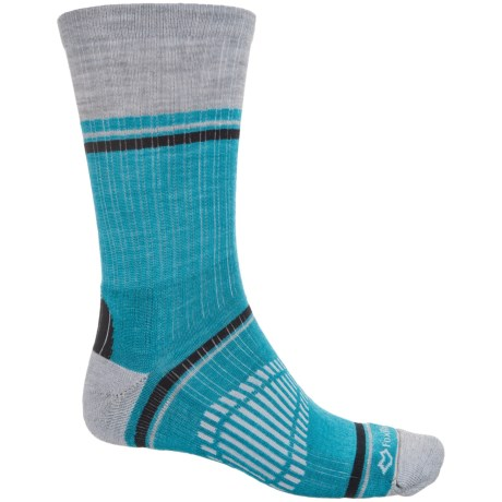 Fox River Peak Outdoor Hiking Socks - Crew (For Men and Women) in Light Grey