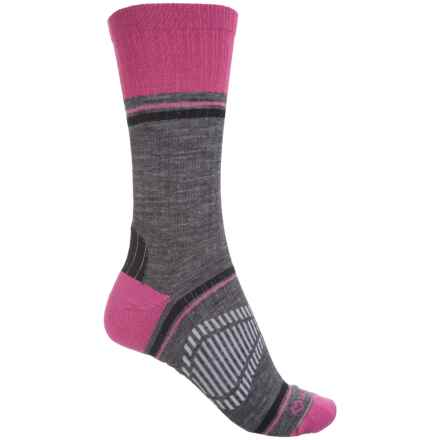 Fox River Peak Outdoor Hiking Socks - Crew (For Women) in Raspberry - Closeouts