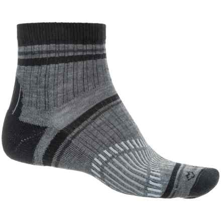 Fox River Peak Outdoor Hiking Socks - Quarter Crew (For Men and Women) in Black - Closeouts