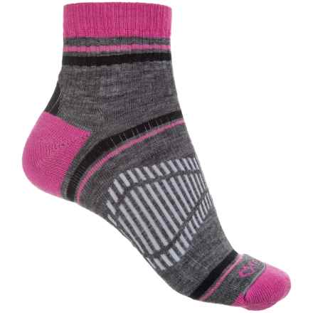 Fox River Peak Outdoor Hiking Socks - Quarter Crew (For Women) in Raspberry - Closeouts