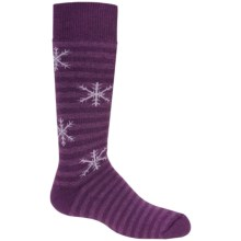 Fox River Pippi Jr. Ski Socks - Merino Wool, Over-the-Calf (For Girls) in Chinese Violet - Closeouts
