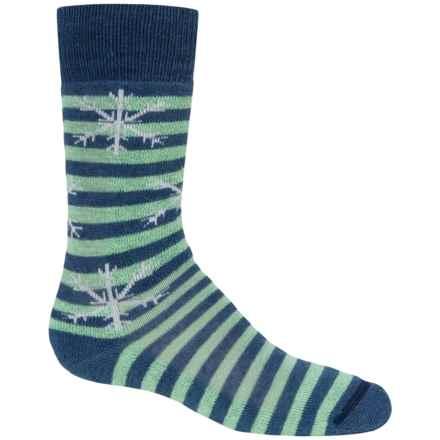 Fox River Pippi Jr. Ski Socks - Merino Wool, Over the Calf (For Girls) in Oceana - Closeouts