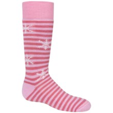 Fox River Pippi Jr. Ski Socks - Merino Wool, Over the Calf (For Girls) in Pink - Closeouts