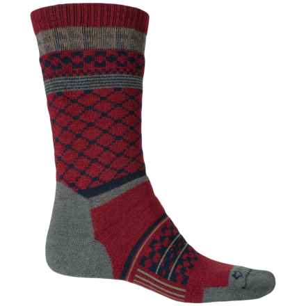 Fox River Prima Kintore Socks - Crew (For Men) in Maroon - Closeouts