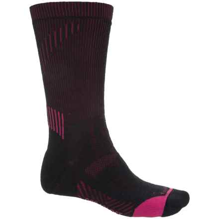 Fox River PrimaHike PrimaLoft® Hiking Socks - Merino Wool, Crew (For Men and Women) in Black/Fig - Closeouts