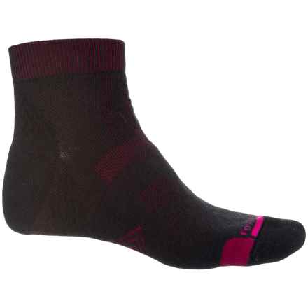 Fox River PrimaHike PrimaLoft® Hiking Socks - Merino Wool, Quarter Crew (For Men and Women) in Black/Fig - Closeouts