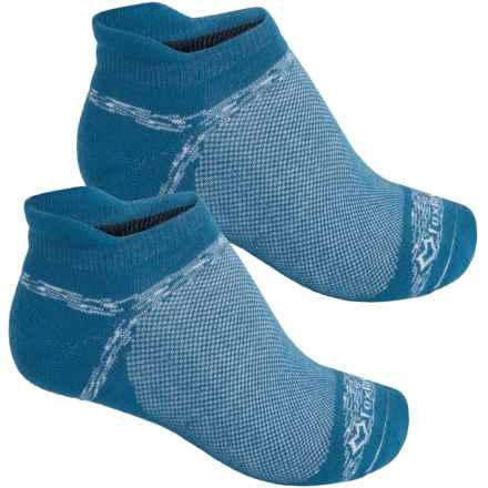 Fox River Sport Tab Socks - 2-Pack, Below the Ankle (For Men and Women) in Blue Teal - Closeouts