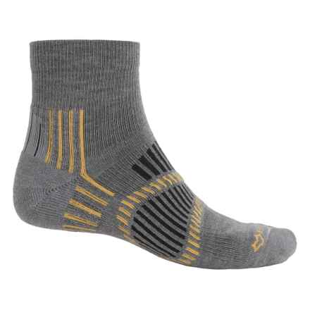 Fox River Stowe Lite PrimaLoft® Outdoor Socks - Quarter Crew (For Men and Women) in Grey - Overstock