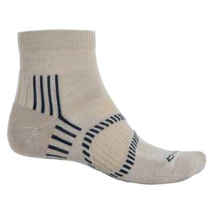 Fox River Stowe Lite PrimaLoft® Outdoor Socks - Quarter Crew (For Men and Women) in Oatmeal - Overstock