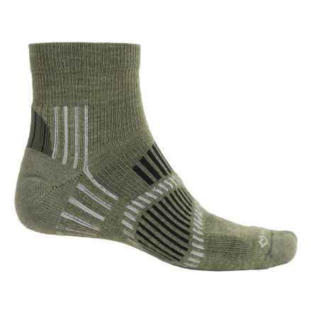 Fox River Stowe Lite PrimaLoft® Outdoor Socks - Quarter Crew (For Men and Women) in Olive - Overstock