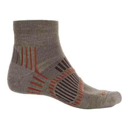 Fox River Stowe Lite PrimaLoft® Outdoor Socks - Quarter Crew (For Men and Women) in Taupe - Overstock
