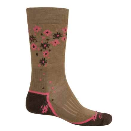 Fox River Trail Outdoor Cross Terrain Socks - Crew  (For Men and Women) in Taupe - Closeouts