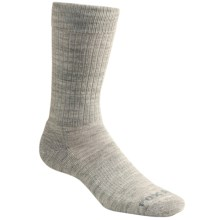Fox River Trouser Socks - Merino Wool, Crew (For Men and Women) in Light Grey Heather - Closeouts