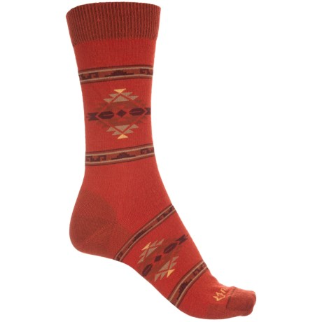 Fox River Ultra-Lightweight Navajo-Inspired Socks - Crew (For Women) in Red