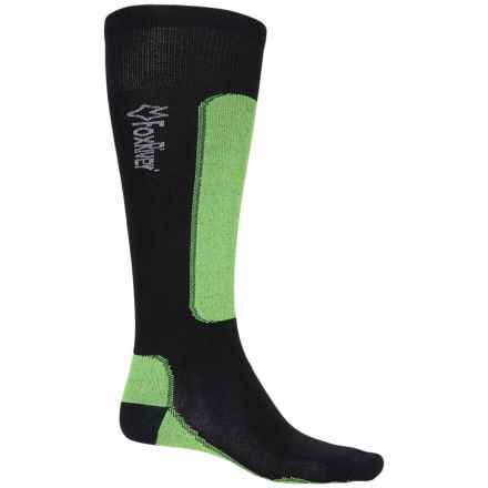 Fox River VVS® LV Ski Socks - Merino Wool, Over the Calf (For Men and Women) in Black/Lime - Closeouts