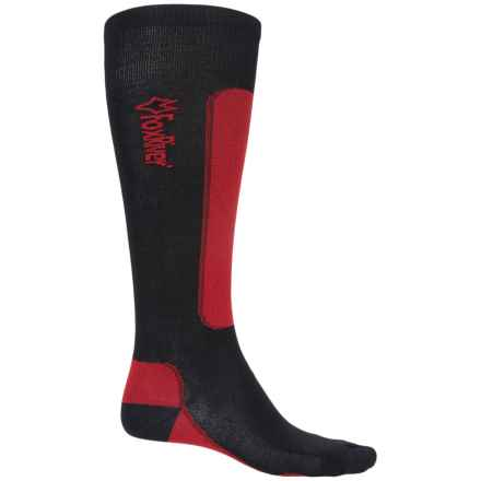 Fox River VVS® LV Ski Socks - Merino Wool, Over the Calf (For Men and Women) in Black/Red - Closeouts