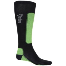 Fox River VVS® LV Ultralight Ski Socks - Merino Wool Blend, Over-the-Calf (For Men and Women) in Black/Lime - Closeouts