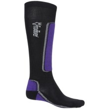 Fox River VVS® MV Ski Socks - Merino Wool Blend, Over the Calf (For Men and Women) in Black/Purple - Closeouts