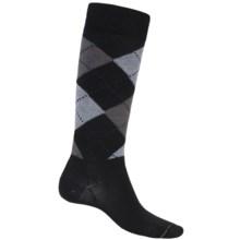 Fox River Walk Forever Argyle Socks - Over the Calf (For Men) in Black - Closeouts
