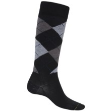 Fox River Walk Forever Argyle Socks - Over the Calf (For Men) in Black - Closeouts