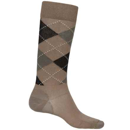 Fox River Walk Forever Argyle Socks - Over the Calf (For Men) in Khaki - Closeouts