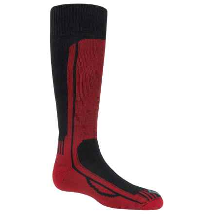 Fox River Wick Dry® Turbo Jr. Ski Socks - Over the Calf (For Little and Big Kids) in Black/Red - Closeouts