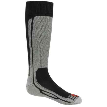 Fox River Wick Dry® Turbo Jr. Ski Socks - Over the Calf (For Little and Big Kids) in Black/Silver - Closeouts
