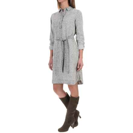 Foxcroft Animal Print Dress - Long Sleeve (For Women) in Silver - Closeouts