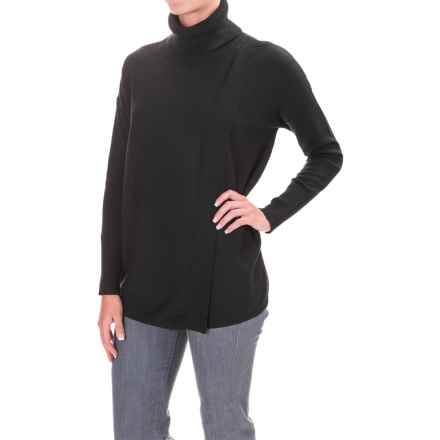 Foxcroft Asymmetrical Turteneck Shirt - Long Sleeve (For Women) in Black - Closeouts