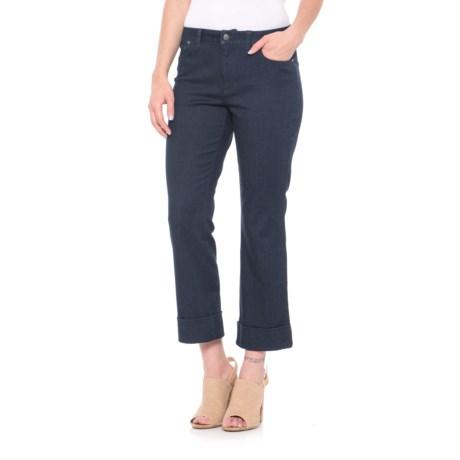 Foxcroft Aurora Crop Jeans (For Women) in Indigo Denim