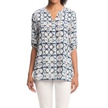 Foxcroft Batik Print Tunic Shirt - 3/4 Sleeve (For Women) in Multi - Overstock